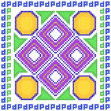 Cross Stitch Embroidery Geometrical design for seamless pattern texture Stock Images