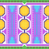 Cross Stitch Embroidery Geometrical design for seamless pattern texture Royalty Free Stock Photo