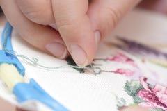 Cross-Stitch (Embroidery) Stock Photo