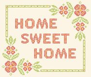 Free Cross-stitch Embroidery In Ukrainian Style Royalty Free Stock Photography - 38294157