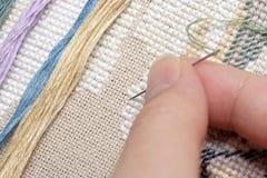 Cross-Stitch (Embroidery) Stock Image