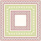 Cross-stitch embroidery - set of borders Royalty Free Stock Image
