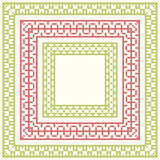 Cross-stitch embroidery - set of borders Stock Photography