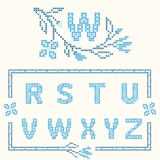 Cross-stitch embroidery in Ukrainian style Royalty Free Stock Image