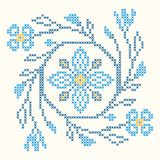 Cross-stitch embroidery in Ukrainian style Stock Photos