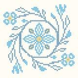 Cross-stitch embroidery in Ukrainian style Stock Photos