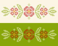 Cross-stitch embroidery in Ukrainian style Stock Image