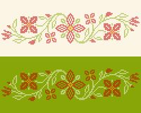 Cross-stitch embroidery in Ukrainian style Royalty Free Stock Photography