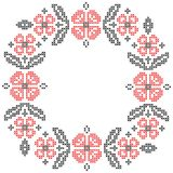 Cross-stitch embroidery in Ukrainian style Stock Images