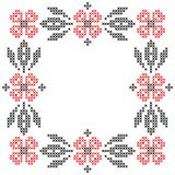 Cross-stitch embroidery in Ukrainian style Stock Photo