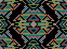 Cross-stitch ethnic ornament stock illustration