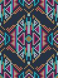 Cross-stitch ethnic ornament Royalty Free Stock Images