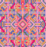 Cross-stitch ethnic ornament royalty free illustration