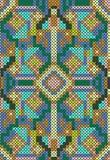 Cross-stitch ethnic seamless pattern Royalty Free Stock Photo
