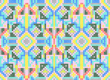 Cross-stitch ethnic seamless pattern stock illustration