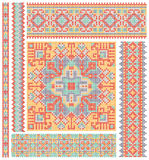 Cross-stitch ethnic Ukraine pattern design Royalty Free Stock Photos