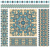 Cross-stitch ethnic Ukraine pattern Stock Photo