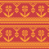 Cross stitch flower ornament Royalty Free Stock Photo