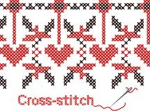 Cross-stitch fun at home Stock Images
