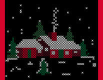 Cross-stitch Home Sweet Home Stock Images