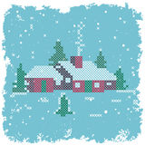 Cross-stitch Home Sweet Home Stock Photos