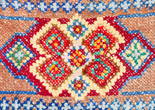 Cross-stitch lace close up. Vintage knitting craftsmanship - cross-stitch lace close up Royalty Free Stock Photography
