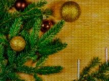 Cross stitch. New Year 2018. Stock Photography