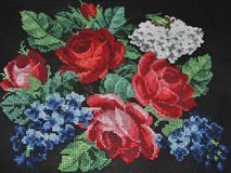 Cross stitch ornament in a retro style Stock Images