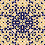 Cross stitch pattern Antique, Scandinavian style Antique Royalty Free Stock Image
