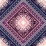 Cross-stitch pattern on blurred background Stock Image