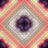 Cross-stitch pattern on blurred background Stock Images
