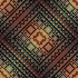 The cross-stitch pattern on diagonal gradient Royalty Free Stock Photography
