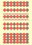 Cross stitch pattern  illustration Stock Photo