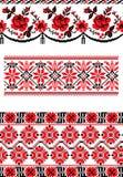 Cross stitch patterns. Royalty Free Stock Image