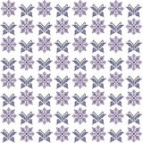 Cross stitch seamless pattern, traditional embroidery with butte Stock Images