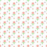 Cross stitch seamless vector pattern. Stock Images