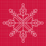Cross stitch snowflake with grid Stock Images