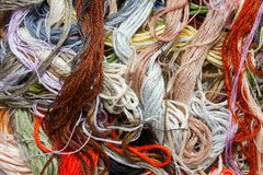 Cross-Stitch Threads Stock Image
