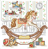 Cross-stitch toys Stock Photo