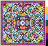 Cross stitch ukrainian traditional embroidery Stock Photography