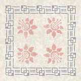 Cross stitch vintage tablecloth royalty free stock images