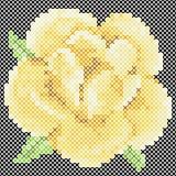 Cross Stitch Yellow Rose Royalty Free Stock Photos