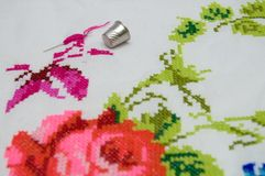 Cross stitch3 Royalty Free Stock Photo