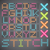 Cross Stitched Fonts Royalty Free Stock Photo
