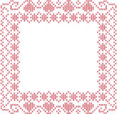Cross-stitched frame Stock Photography
