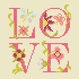 Cross-stitching embroidery Stock Photography