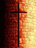 Cross in stone royalty free stock photography