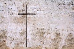 Cross in stone Stock Image
