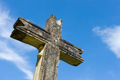 Cross of stone Stock Photography