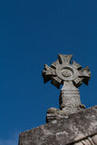 Cross stone sky Royalty Free Stock Images